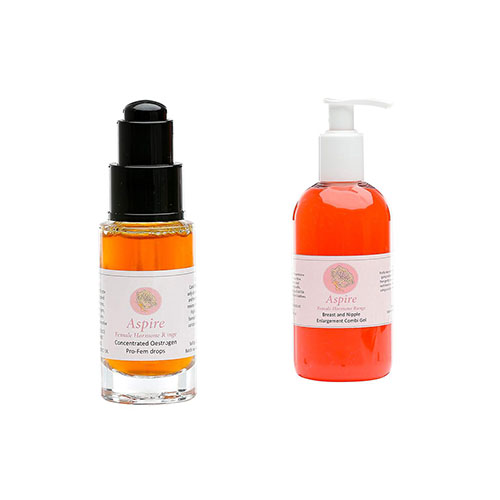 Aspire Breast and Nipple Gel and Oestrogen Pro Fem Drops Duo Pack