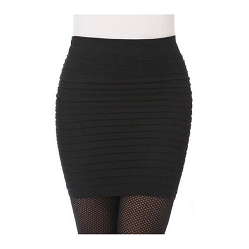 HIgh Waisted Black Mini Skirt