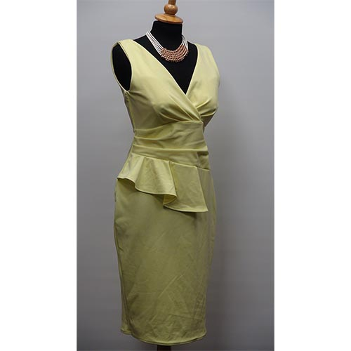 Lemon Ascot Dress
