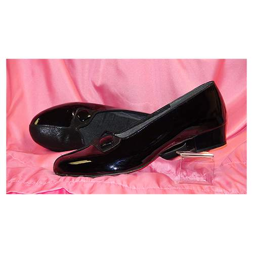 Black Patent Leather Courts