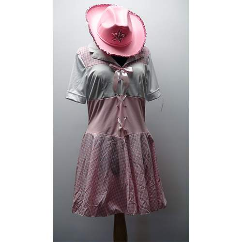 Pink and White Gingham Cowgirl Set
