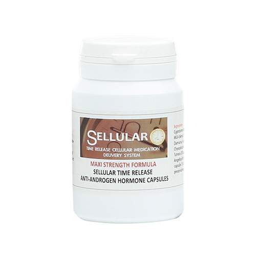 Sellular 24-Hour Time Release Anti Androgen Male Hormone Suppressant Capsules