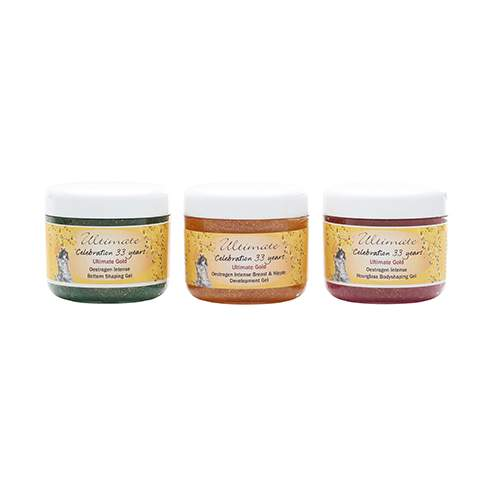 Ultimate Gold Intense Breast and Nipple Gel, Hourglass and Bottom Gel Pack