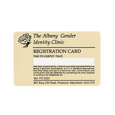 Personalised Official Gender Identity Card
