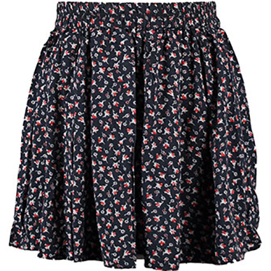 Floral Ruched Mini Skirt Large