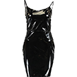 SEXY Black Wet Look Dress Large