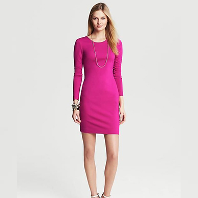 Hot Pink Long Sleeved Mini Dress