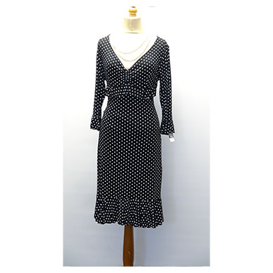 Polka Dot Knee Length Dress