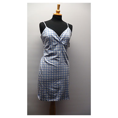 Blue Gingham Shift Dress