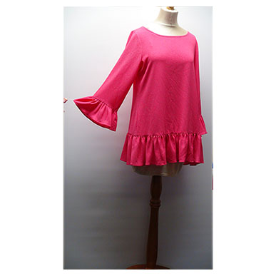 Cerise Frilly Micro Mini/Blouse