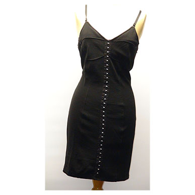 Black Hook and Eye Mini Dress
