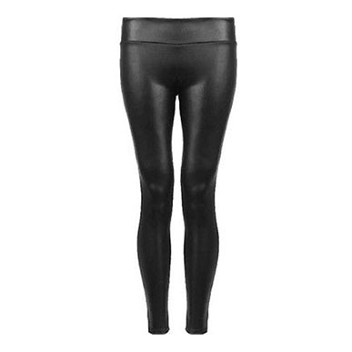 Leather Wet Look Leggings