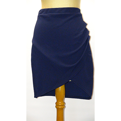 Navy Tulip Skirt