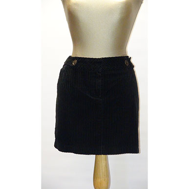 Black Cord Mini Skirt