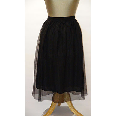 Silky Long Black Skirt