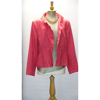 Rose Pink Summer Linen Jacket