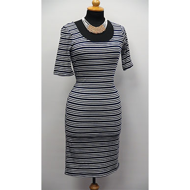 Striped Sexy Figure Hugging Dress