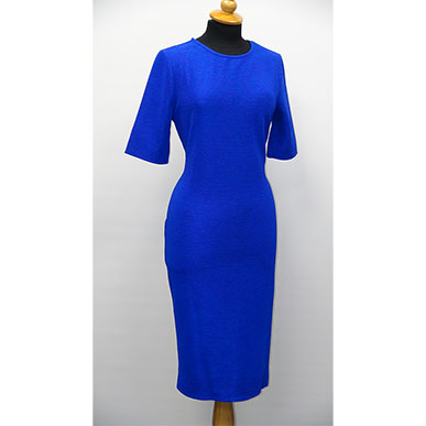 Blue Figure Hugging Dress