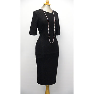 Black Figure Hugging Dress