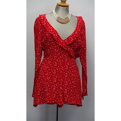 Red Hot Pants Play Suit