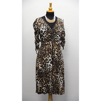 Flirty Shorter Length Dress in Animal Print