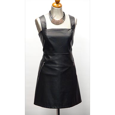 Mini Leather Look Dress