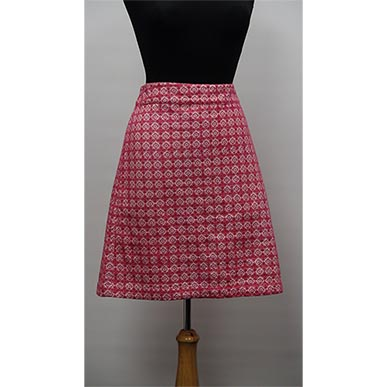 Embroidered Lacey Pink Mini Skirt