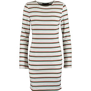 White Striped Mini Jumper Dress