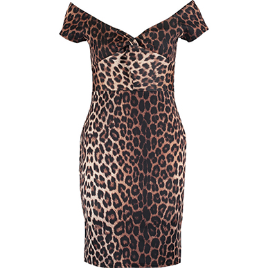 Brown Leopard Skin Sexy Dress