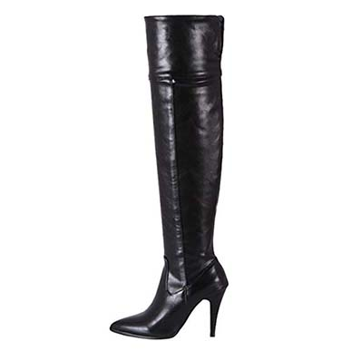 Thigh High Zipped High Heeled Boots