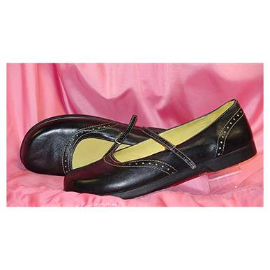 Leather Strap Over Flat Shoe