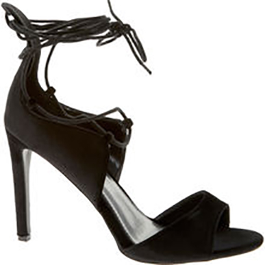 Black Cut Out High Heeled Shoes