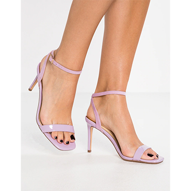 Lilac Strappy Sandals