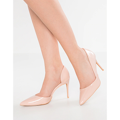 Pink Peggy Court Shoes