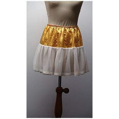 Satin and Net Can Can Skirt