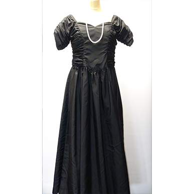 Satin Black Ball Gown