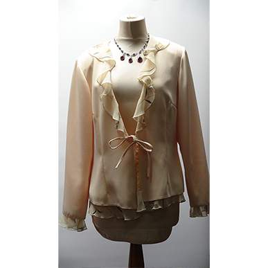 Chiffon Cream Jacket