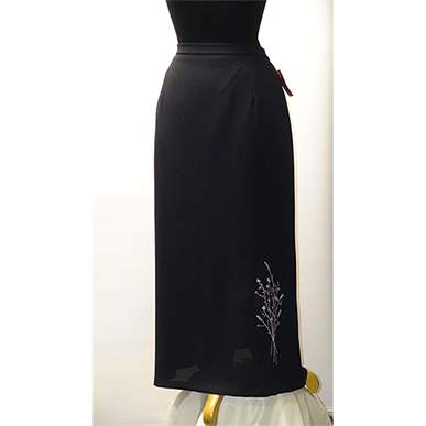 Elegant Long Navy Skirt