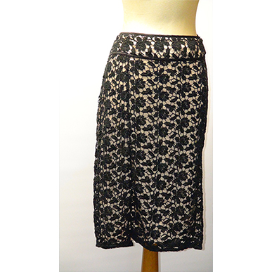Black and Nude Lace Skirt