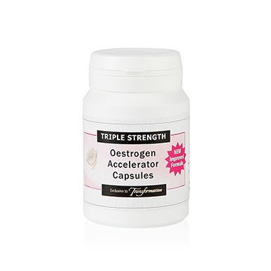 Triple Strength Oestrogen Hormone Feminising Accelerator Capsules Treatment Course