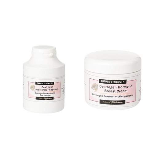 Triple Strength Breast Cream and Triple Strength Oestrogen Accelerator Duo