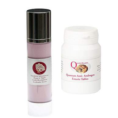 Transform Breast and Nipple Serum and Enteric Anti Androgens Duo Pack