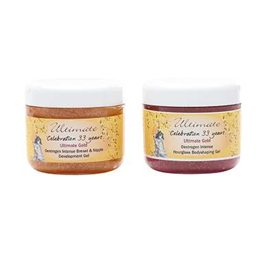 Ultimate Gold Intense Breast and Nipple Gel and Hourglass Gel Duo Pack