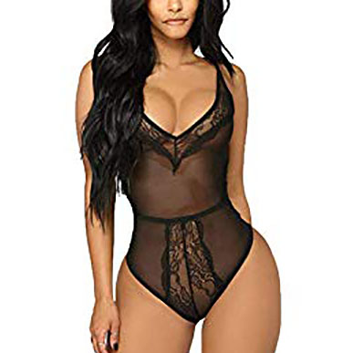 Black Sheer Transparant Teddy