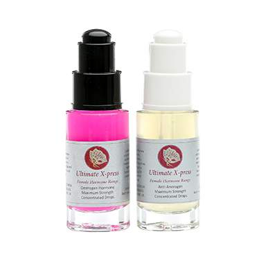Ultimate Express Oestrogen Accelerator Drops and Anti Androgen Drops Duo Pack