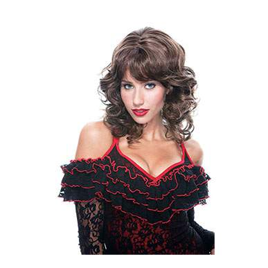 Bianca Long Curly Dark Brown Full Female Wig