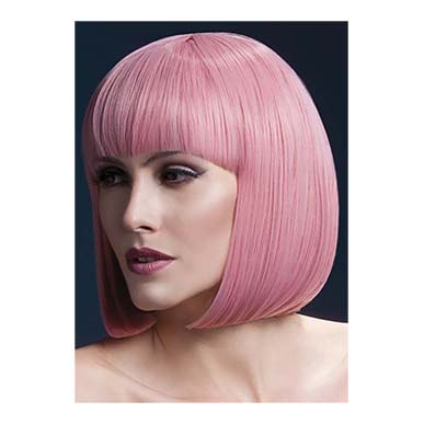 Pink Party Bob Female Wig