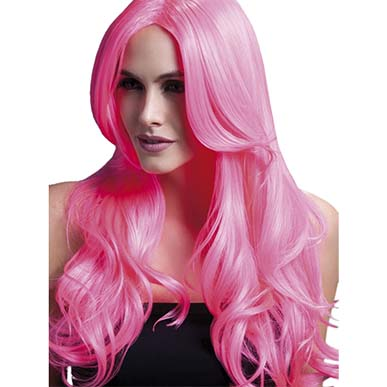Glamorous Layered Party Wig Pink
