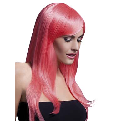 Glamorous Straight Party Wig Pink